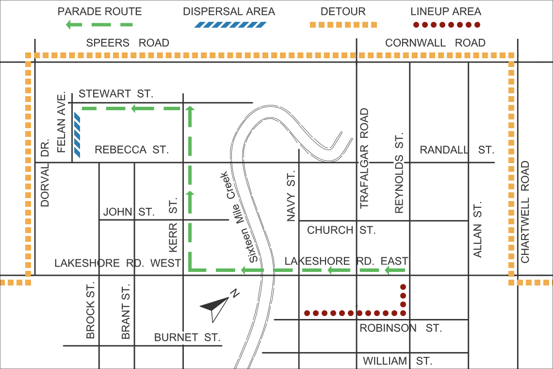 Parade route map