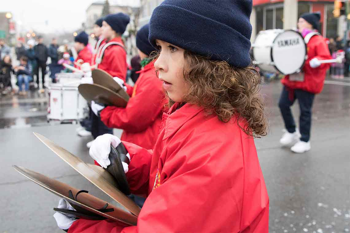 Child in band